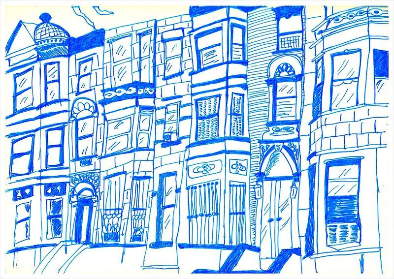 Riverside Drive Drawing